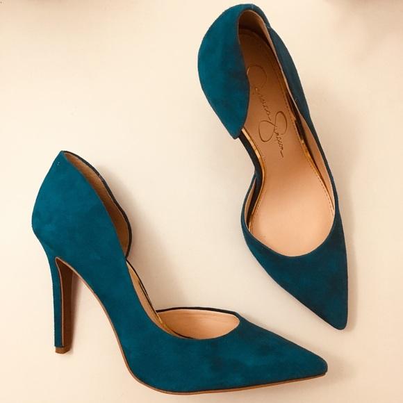 4c78e1e3ebcd Jessica Simpson Shoes - Jessica Simpson Teal Pheona Pumps